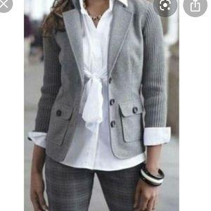 Cabi 1/2 wool blend ribbed blazer like new XS
